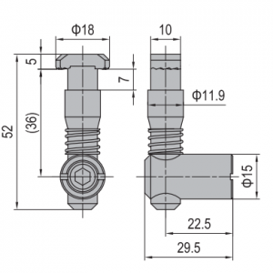 ANCHOR CONNECTOR PG45 STANDARD (MODEL C) (3.11.45.03)