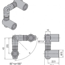 ANCHOR CONNECTOR PG45 MITER (MODEL P) (3.11.45.06)