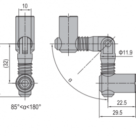 ANCHOR CONNECTOR PG45 MITER (MODEL C) (3.11.45.07)