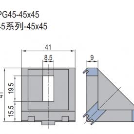 DIE CAST BRACKET PG45-45X45 (SET H) (3.21.45.4545.STH)
