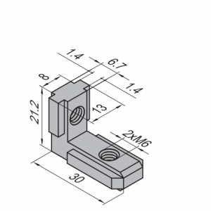 INNER BRACKET 8-A (WITH SET SCREW) PG30 (3.41.08A)