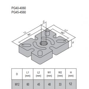 MOUNTING PLATE-PG45-4560 STEEL (5.32.45.4560)