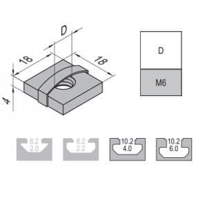 SQUARE NUT-10-M6 (2.12.10.M6)