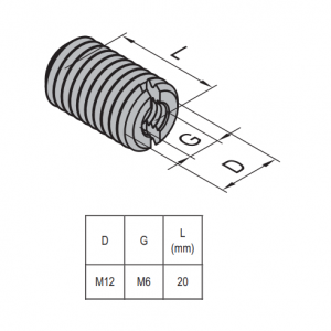HOLE REDUCER BOLT M12/M6 NICKEL PLATED STEEL (2.51.12.06)