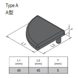 END CAP PG45 (4.11.45.4545R)