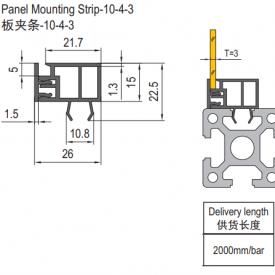 panel mounting strip