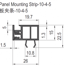 PANEL MOUNTING STRIP 6.31.10.04.02