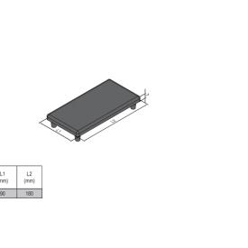 END CAP PG45 90X180X5MM BLACK (4.11.45.90180)