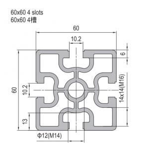 Strut Profile PG60 60x60 4 slots (1.11.60.060060.04)