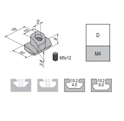 Potential Equaliser Nut-8-M4 - /w Top Thread (2.22.08.M4)