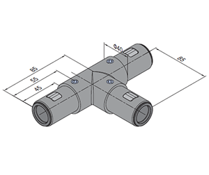 T Tube Connector (SPS.JC40.T)