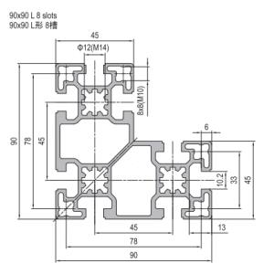 Strut Profile PG45 90x90