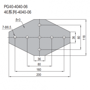 JOINING PLATE PG40-4040-06 (FOUR WAY PLATE) (SET X)