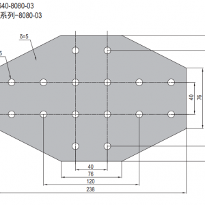 JOINING PLATE PG40-8080-03 (FOUR WAY PLATE) (SET I)
