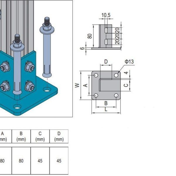 BASE PLATE PG45 (5.13.4545.ST) - Modular Assembly SA