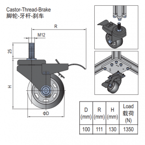 CASTIR THREAD BREAK 5.41.100.M12B