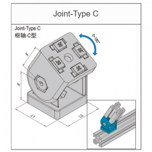 JOINT TYPE C - 30mm x 30mm (8.32.3030C)