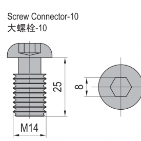 SCREW CONNECTOR-10 NICKEL PLATED STEEL (3.81.10)