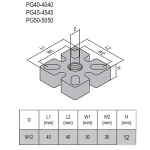 MOUNTING PLATE-PG40-4040 (5.32.40.4040) STEEL