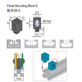 PANEL MOUNTING BLOCK-6 (6.21.06) PG15/20
