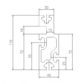 heavy type roller profile CONVPR40110