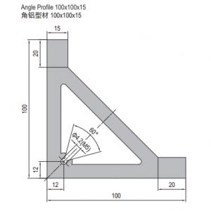 ANGLE PROFILE 100X100X15 (1.31.100100.15)