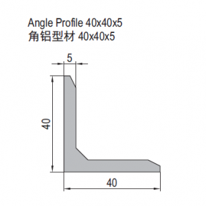 ANGLE PROFILE 40X40X5 (1.31.4040.05)