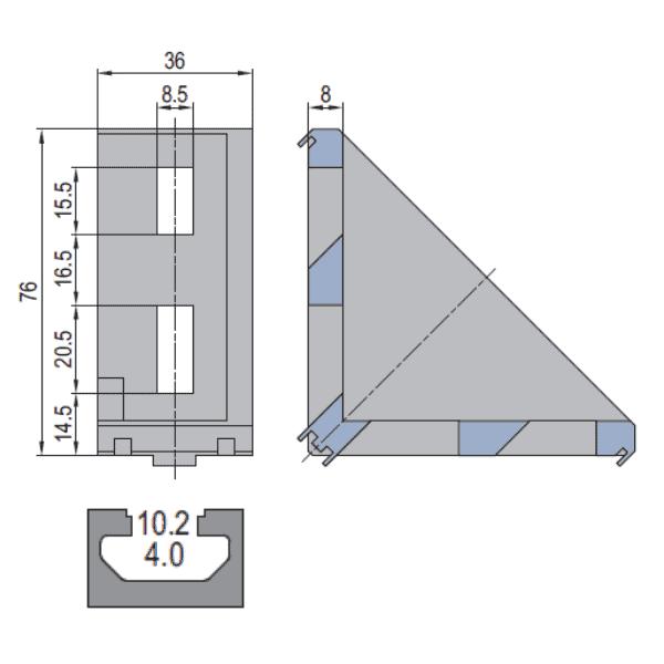 Die Cast Bracket - Modular Assembly Technology SA