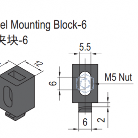 PANEL MOUNTING BLOCK-6 (SET) (6.21.06.ST)