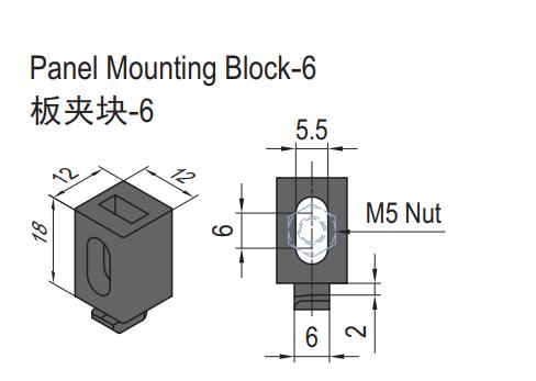 PANEL MOUNTING BLOCK-6 (SET) (6.21.06.ST)