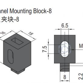 PANEL MOUNTING BLOCK-8 (SET) (6.21.08.ST)