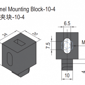 PANEL MOUNTING BLOCK-10-4 (SET) (6.21.10.04.ST)