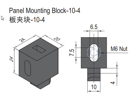 PANEL MOUNTING BLOCK-10-4 (SET) (6.21.10.04.ST)