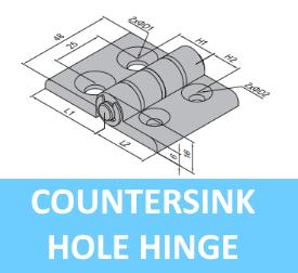 Countersink Hole Hinge