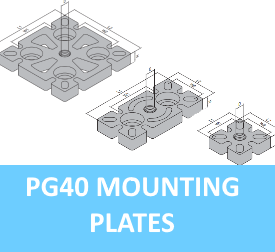 PG40 Mounting Plates