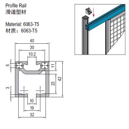 PROFILE RAIL (1.42.40.4040.01)