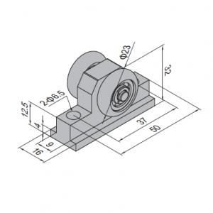 PULLEY BLOCK FOR SLIDING DOOR PG40 (PBDS40.PB)
