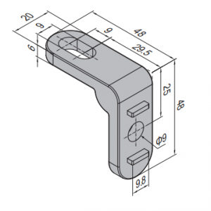 CONNECTING ELEMENT FOR PROTECTIVE GRILLE UNIT (PNC.ST)