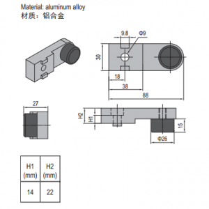 BUFFER BLOCK FOR SWING DOOR PG40 (PNDH40.BB)
