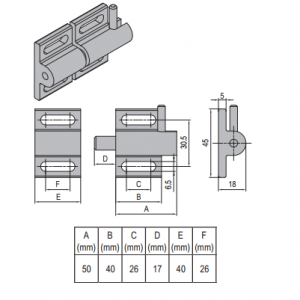 DOOR LATCH PG40 & SET (PNDH40.LD.ST)