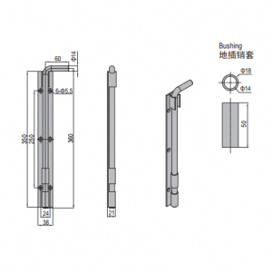 GROUND LATCH PG40 & SET (PNDH40.LG.ST)