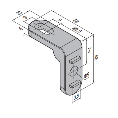 CONNECTING ELEMENT FOR CLAMPING PROFILE UNIT (PPC.ST)