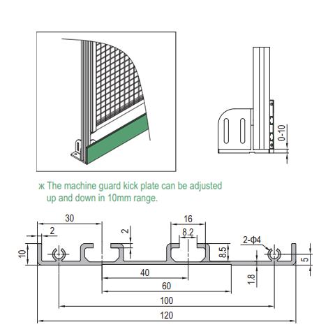 KICK PLATE PROFILE (1.42.10.010120.01) - Modular Assembly SA