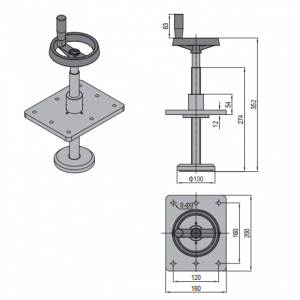 HAND DRIVE SUPPORT (SPS.HD40) - Modular Assembly SA