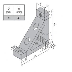 AP BRACKET 100X100-PG50-50 (SET) (3.31.100.50.50.ST)