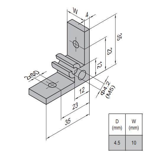 AP BRACKET 35X35-PG15-15 (SET) (3.31.35.15.15.ST)
