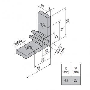 AP BRACKET 35X35-PG15-30 (SET) (3.31.35.15.30.ST)