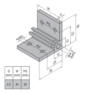 AP BRACKET 35X35-PG20-40 (SET) (3.31.35.20.40.ST)