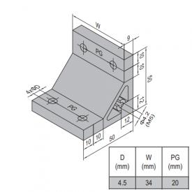 AP BRACKET 50X50-PG20-40 (SET) (3.31.50.20.40.ST)