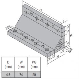 AP BRACKET 50X50-PG20-80 (SET) (3.31.50.20.80.ST)